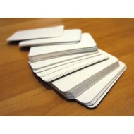 White Blank Flash Cards 400gsm (Pack of 52)