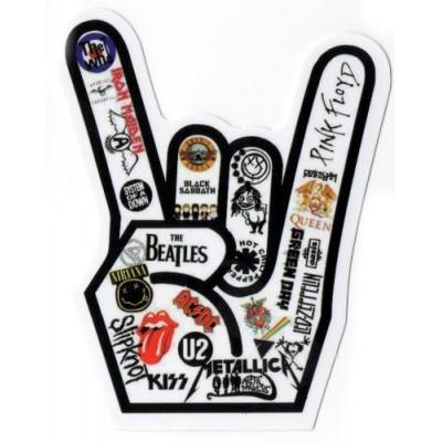 Music Rock Hand feat. Iron Maiden, Black Sabbath ACDC, U2