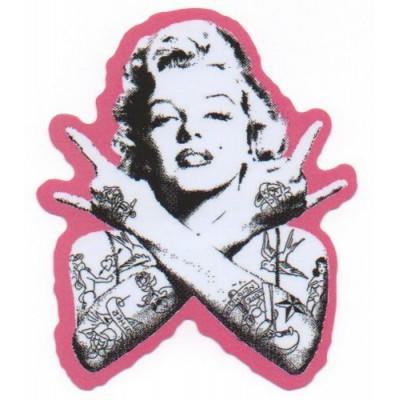 Punk Marilyn Monroe Sticker (Pink)