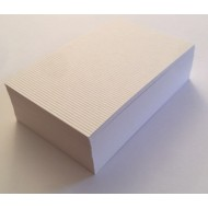 100 Diamond White Cord Blank Flash Cards 350gsm (50x90mm)