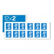 2nd Class Stamps x 12 - (Postage Stamp Book)