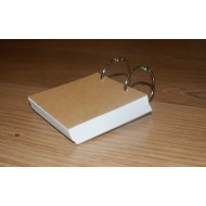 Blank (Set of 2) Twin Key Ring 160gsm 50 Page (80x80mm)