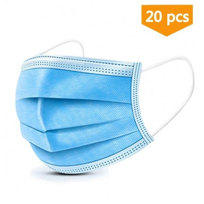 Face Mask Medical Standard Vacuum Sealed (Pack of 20)