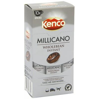 Kenco Millicano Wholebean Instant Coffee 10 x 2 g Stick Pack (1 Box)