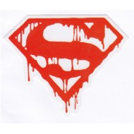 Bleeding Superman (Red) Sticker