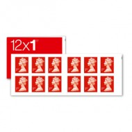 1st Class Stamps x 12 (Postage Stamp Booklet)