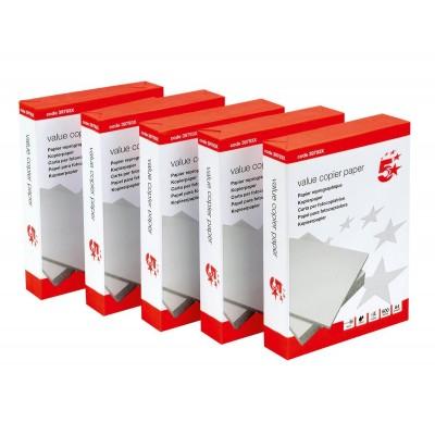 A4 White 75gsm Printer Copier Paper 5 x 500 Sheets (2500 Sheets)