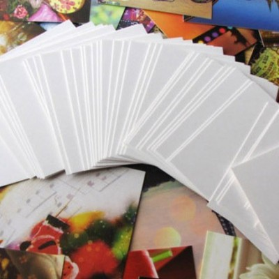 220 Blank White Shimmer Dyslexia Friendly Finish Flash Cards (54x90mm)