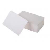 100 Blank White Smooth & Glossy Flash Cards 160gsm (51x89mm)