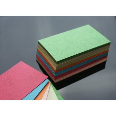 105 Blank Mixed Colour Grain Texture Flash Cards 240gsm (54x90mm)