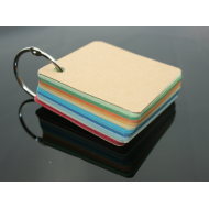 100 Blank Mixed Colour Grain Texture Key Ring 240gsm (80x80mm)