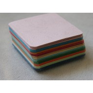 100 Blank Multi-Coloured Grain Texture Flash Cards (80x80mm)