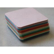 100 Blank Multi-Coloured Grain Texture Flash Cards (80x80mm)
