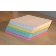 100 Blank Multi-Coloured Smooth Texture Flash Cards (80x80mm)