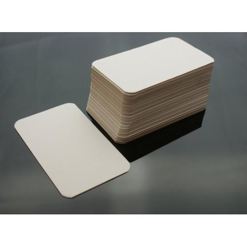 100 Blank White Leaf Flash Cards 160gsm 54x90mm