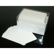 125 Boxed Blank White Extra Thick 600gsm Rounded Corners Flash Cards (54x90mm)