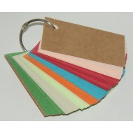 Blank Multi-Colour Key Ring Grain Texture 105 Pages 240gsm (54x90mm)