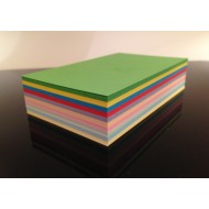 100 Blank Mixed Colour Flash Cards 160gsm (54x90mm)