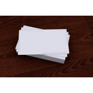 100 Blank White Flash Cards (50x90mm)