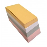 100 Blank Multi-Colour Shimmer Dyslexia Friendly Finish Flash Cards (54x90mm)