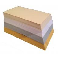 100 Blank Multi-Colour Shimmer Dyslexia Friendly Finish Flash Cards (54x90mm)