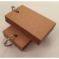 Blank Brown Key Ring 2 x 50 Cards 280gsm (54x90mm)