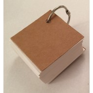 Blank White Key Ring 100 Cards 160gsm (65x65mm)