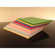 100 Blank Mixed Colour Square Flash Cards 160gsm (80x80mm)