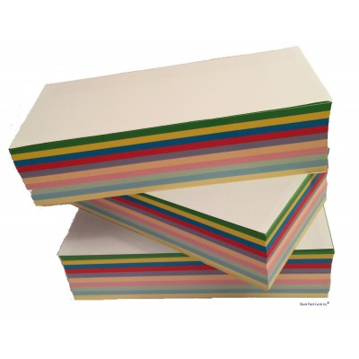 160gsm Mixed Colours Blank Compliment Slips DL 99x210mm (750 Sheets)