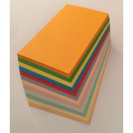 110 Blank Mixed Colour Flash Cards 160gsm (54x90mm)