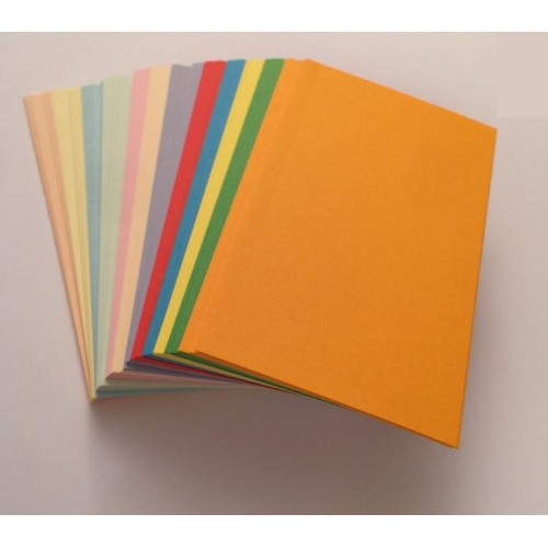 Blank Mixed Colour Flash Cards 160gsm (54x90mm)