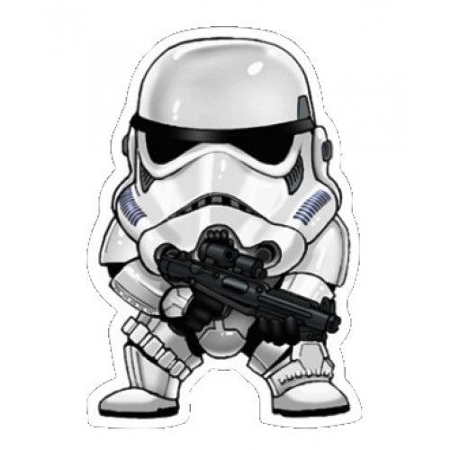 Star wars chibi storm trooper sticker