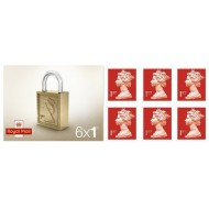 1st Class Stamps x 6 (Postage Stamp Booklet)