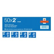 2nd Class Large Stamps x 50 - (Self Adhesive Stamp Sheet)