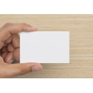 100 Blank Brilliant White Flash Cards 80gsm (54x90mm)