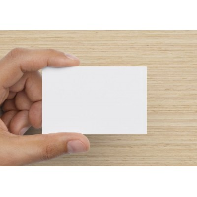 100 Blank Brilliant White Flash Cards 120gsm (54x90mm)