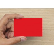100 Blank Brilliant Red Flash Cards 160gsm (54x90mm)