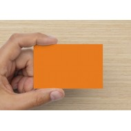 100 Blank Brilliant Orange Flash Cards 160gsm (54x90mm)
