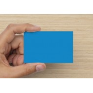 100 Blank Brilliant Blue Flash Cards 160gsm (54x90mm)