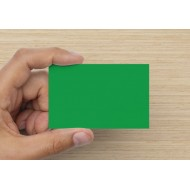 100 Blank Brilliant Green Flash Cards 160gsm (54x90mm)