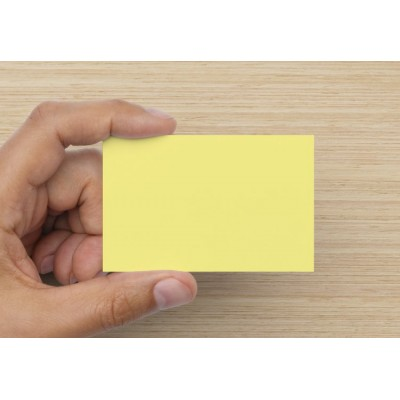 100 Blank Light Yellow Flash Cards 160gsm (54x90mm)
