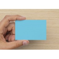 100 Blank Light Blue Flash Cards 160gsm (54x90mm)