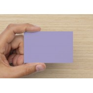 100 Blank Lilac Flash Cards 160gsm (54x90mm)
