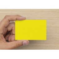 100 Blank Brilliant Yellow Flash Cards 160gsm (54x90mm)