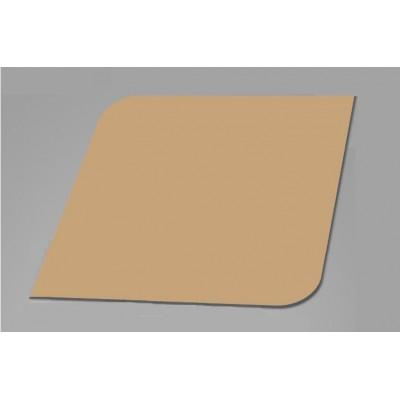 100 Blank Brown Kraft Leaf Flash Cards 280gsm (80x80mm)