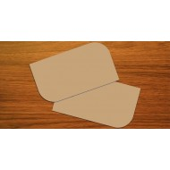 100 Blank Brown Kraft Leaf Flash Cards 280gsm (54x90mm)