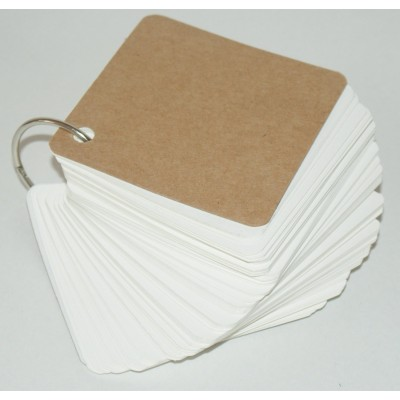 Blank Key Ring Brilliant White Super-Thick 400gsm 50 Page (90x90mm)